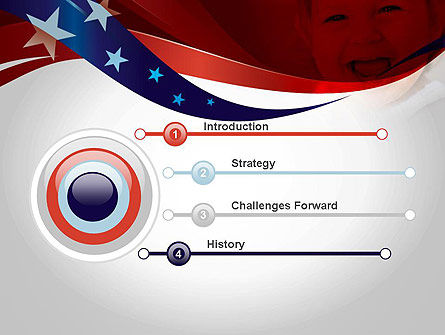 Red White and Pure PowerPoint Template, Slide 3, 11832, America — PoweredTemplate.com