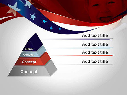Red White and Pure PowerPoint Template, Slide 4, 11832, America — PoweredTemplate.com
