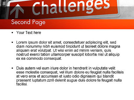 Challenges PowerPoint Template Slide 2