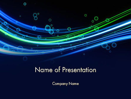 Abstract/Textures: Deep Ocean Theme PowerPoint Template #11834