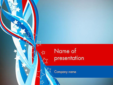 American Flag Theme PowerPoint Template