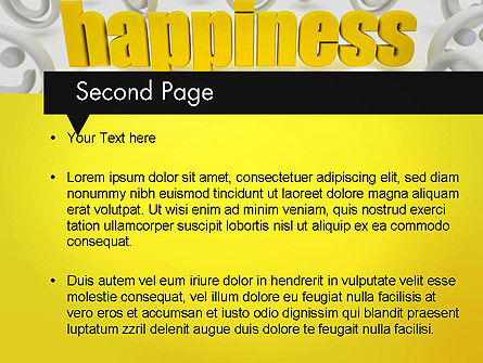 Happiness is a Choice PowerPoint Template, Slide 2, 11839, Education & Training — PoweredTemplate.com