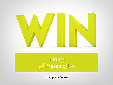 Word WIN PowerPoint Template, 11840, Business Concepts — PoweredTemplate.com
