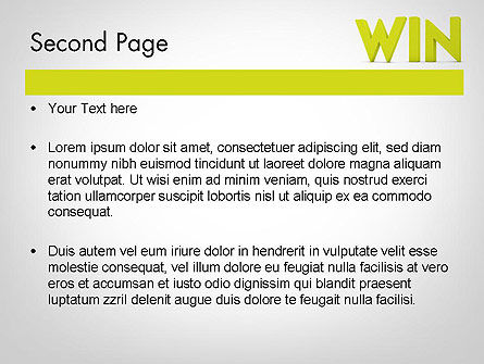 Word WIN PowerPoint Template Slide 2