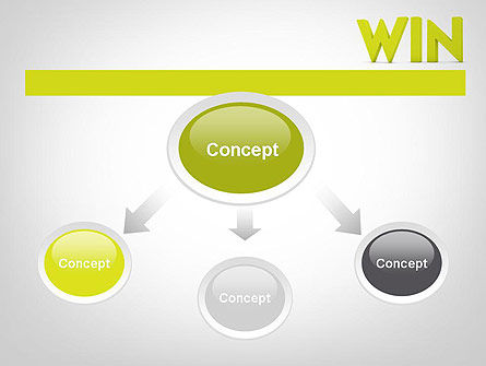 Word WIN PowerPoint Template, Slide 4, 11840, Business Concepts — PoweredTemplate.com