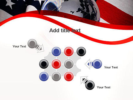 Globe and USA Flag PowerPoint Template Slide 10