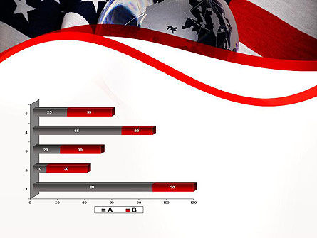 Globe and USA Flag PowerPoint Template Slide 11