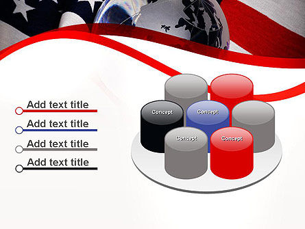 Globe and USA Flag PowerPoint Template Slide 12