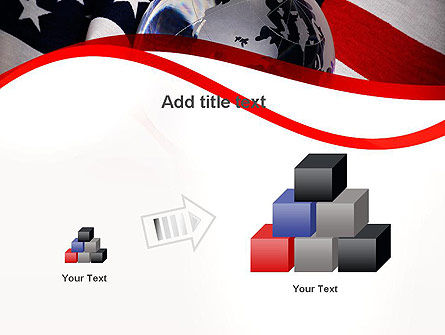 Globe and USA Flag PowerPoint Template Slide 13
