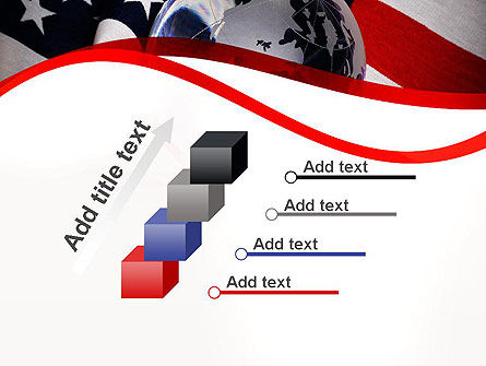 Globe and USA Flag PowerPoint Template Slide 14
