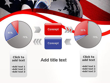 Globe and USA Flag PowerPoint Template Slide 16