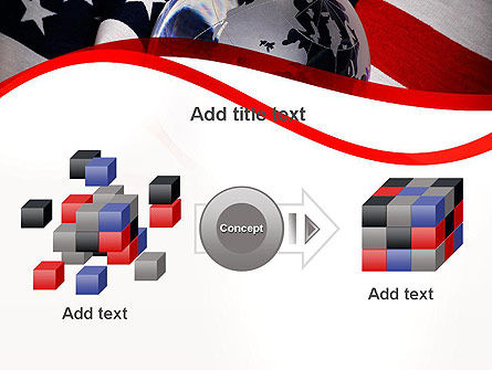 Globe and USA Flag PowerPoint Template Slide 17