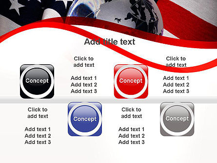 Globe and USA Flag PowerPoint Template Slide 18