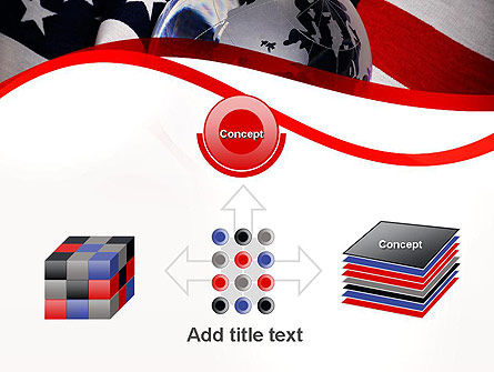Globe and USA Flag PowerPoint Template Slide 19
