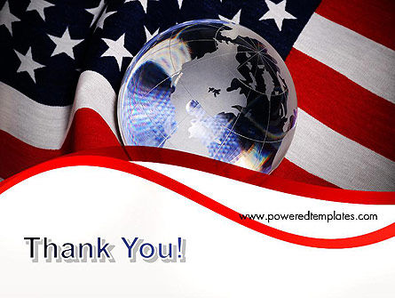 Globe and USA Flag PowerPoint Template Slide 20