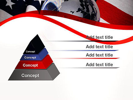Globe and USA Flag PowerPoint Template, Slide 4, 11843, America — PoweredTemplate.com
