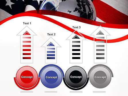 Globe and USA Flag PowerPoint Template Slide 7