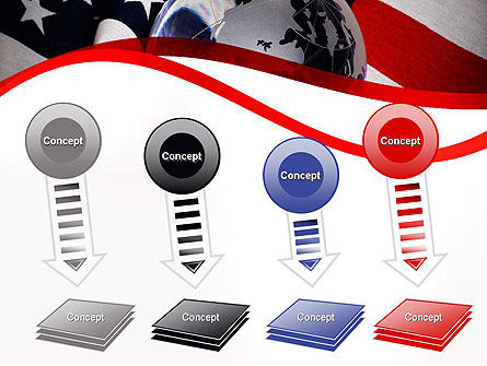 Globe and USA Flag PowerPoint Template Slide 8