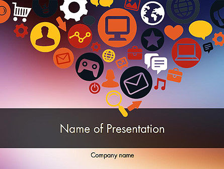 Careers/Industry: Platte Ontwerp Pictogrammen PowerPoint Template #11844