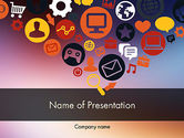 Careers/Industry: Flat Design Icons PowerPoint Template #11844