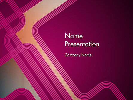 Fantasy in Plum Color PowerPoint Template, 11846, Abstract/Textures — PoweredTemplate.com