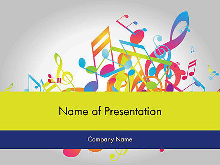 Colorful Tunes PowerPoint Template, 11849, Art & Entertainment — PoweredTemplate.com
