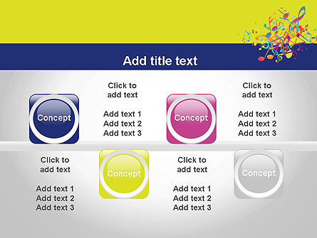 Colorful Tunes PowerPoint Template Slide 18