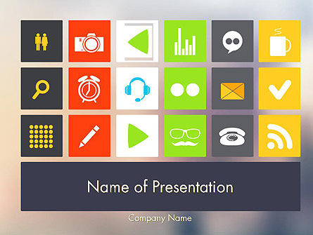 Flat Icons Design PowerPoint Template