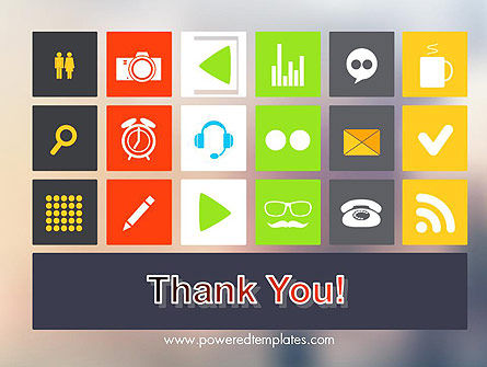 Flat Icons Design PowerPoint Template Slide 20