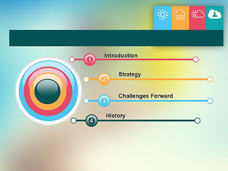 Weather Icons Concept PowerPoint Template Slide 3