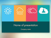 Technology and Science: Weather Icons Concept PowerPoint Template #11857