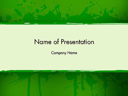 Green Paint Background PowerPoint Template