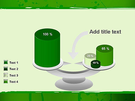 Green Paint Background PowerPoint Template Slide 10