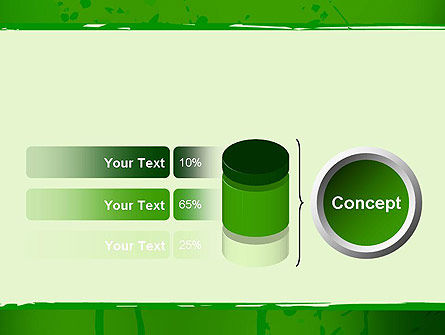 Green Paint Background PowerPoint Template Slide 11