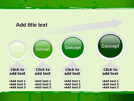 Green Paint Background PowerPoint Template Slide 13