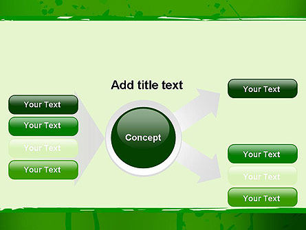 Green Paint Background PowerPoint Template Slide 14