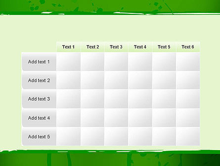 Green Paint Background PowerPoint Template Slide 15