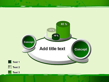 Green Paint Background PowerPoint Template Slide 16