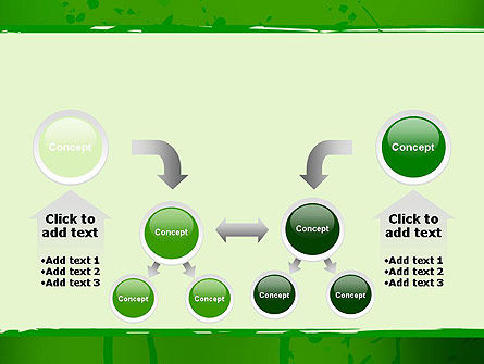 Green Paint Background PowerPoint Template Slide 19