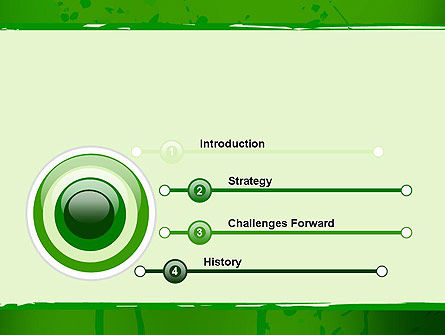 Green Paint Background PowerPoint Template Slide 3