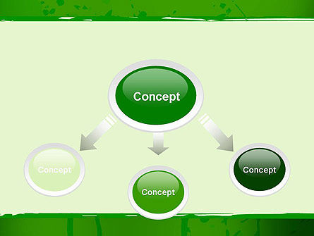 Green Paint Background PowerPoint Template Slide 4