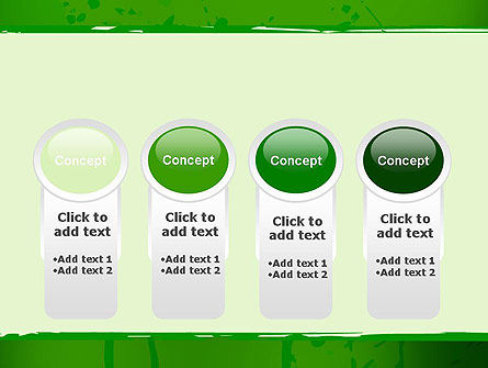 Green Paint Background PowerPoint Template Slide 5