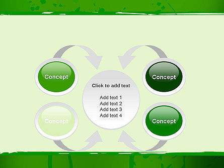 Green Paint Background PowerPoint Template Slide 6