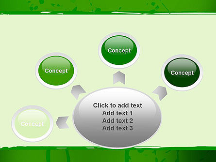 Green Paint Background PowerPoint Template Slide 7