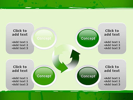 Green Paint Background PowerPoint Template Slide 9