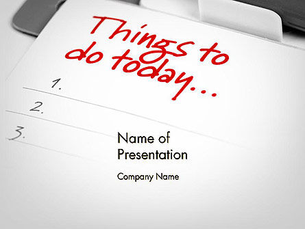 Things To Do List PowerPoint Template, 11861, Business Concepts — PoweredTemplate.com