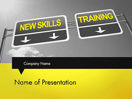 Skills Development PowerPoint Template, 11862, Education & Training — PoweredTemplate.com
