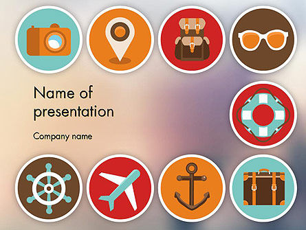 Tourism Flat Icons PowerPoint Template, 11863, Careers/Industry — PoweredTemplate.com