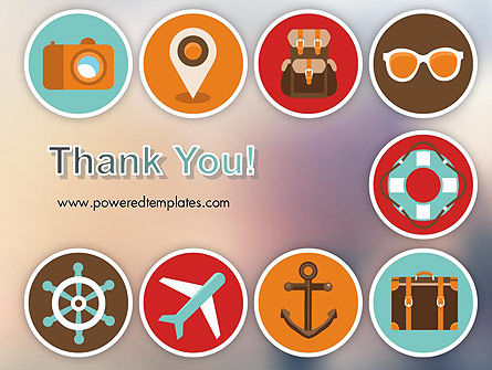 Tourism Flat Icons PowerPoint Template Slide 20