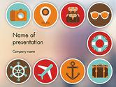 Careers/Industry: 観光フラットアイコン - PowerPointテンプレート #11863